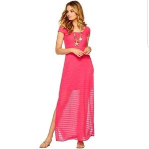 Lilly Pulitzer Ramsay Pink Striped Maxi Dress